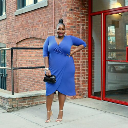 plus size wrap dresses from catherines