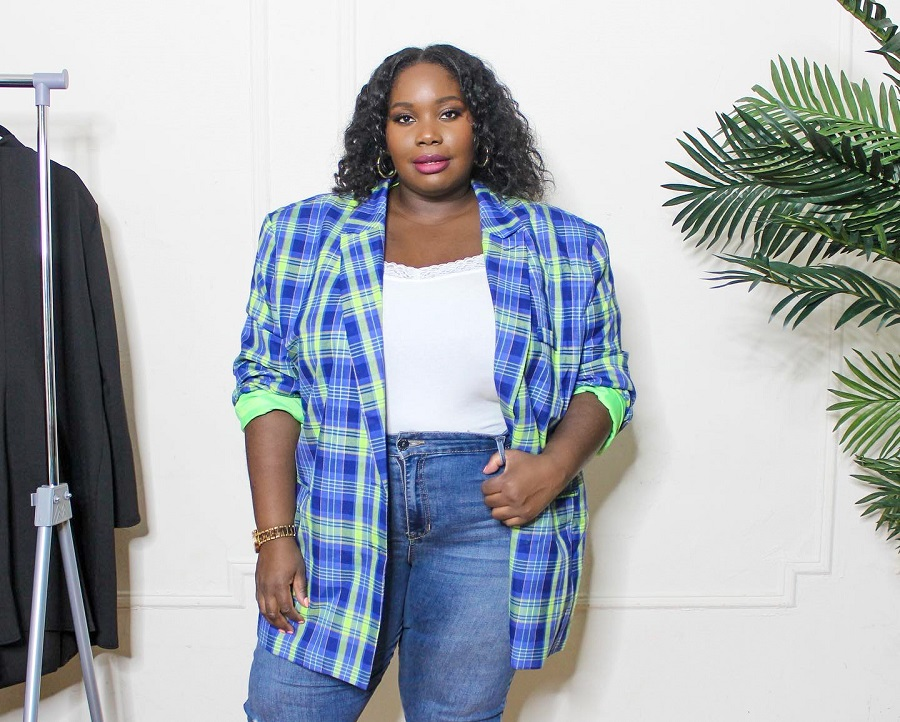 Stylish Curves in plus size oversized blazer from Asos Curve