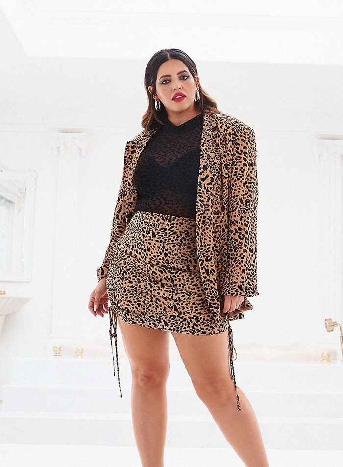 Model Denise Bidot & Nasty Gal Team Up For A Size Inclusive Femme Collection