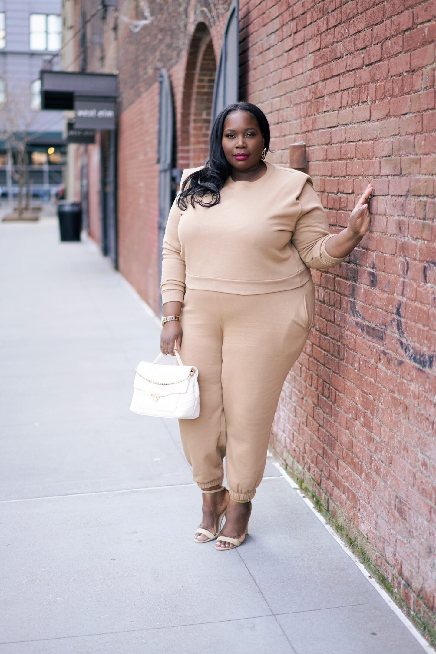 plus size joggers with heels