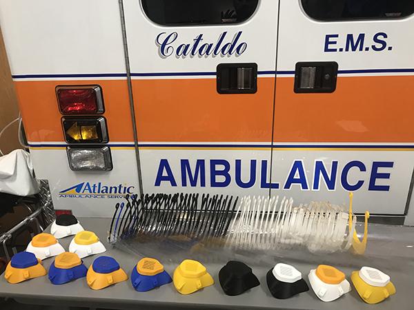 Cataldo EMT Prints 3D Respirators