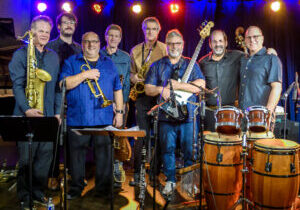 Lunar Octet - Blue Llama 2019 - Whole Band Standing