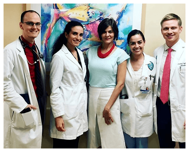 Dr. Holcomb at Tulane Dermatology Cosmetic Clinic, where she trained residents.