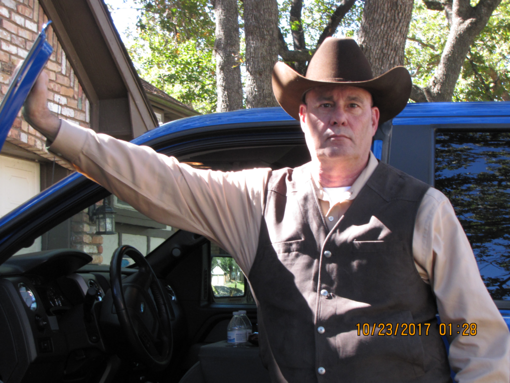 Best Selling Author PG Barnett with his trusty Ford F150 Pick Up Truck
