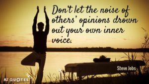 inner voice steve jobs quote