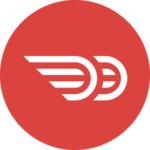 The Doordash icon is an indication of the forth coming delivery service.
