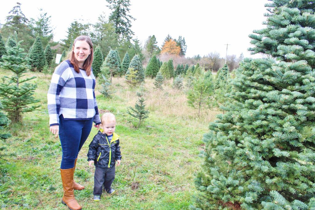 Finding a Christmas Tree with a toddler is so much fun!
