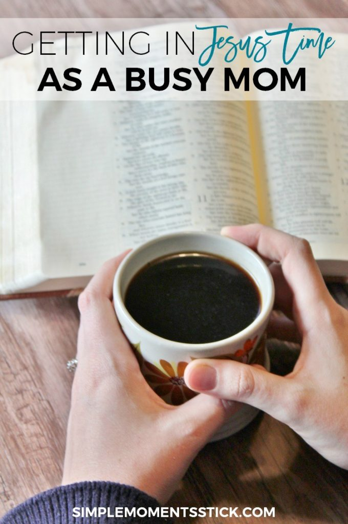 It's so hard to find time for devotions as a busy mom.  Click through to find out how I ensure I get my Jesus time in!