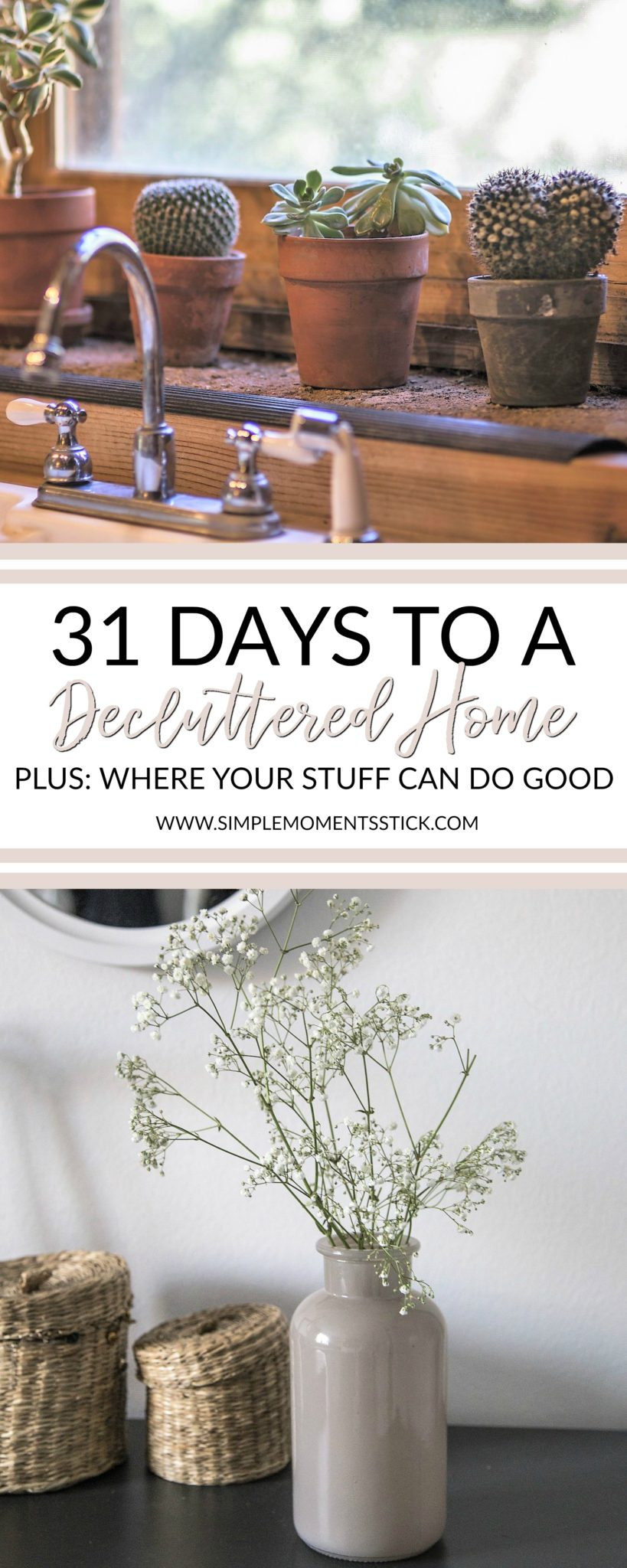Many of us are looking for decluttering tips for spring. Join in on this 31 day challenge and get your home more decluttered than it's ever been!