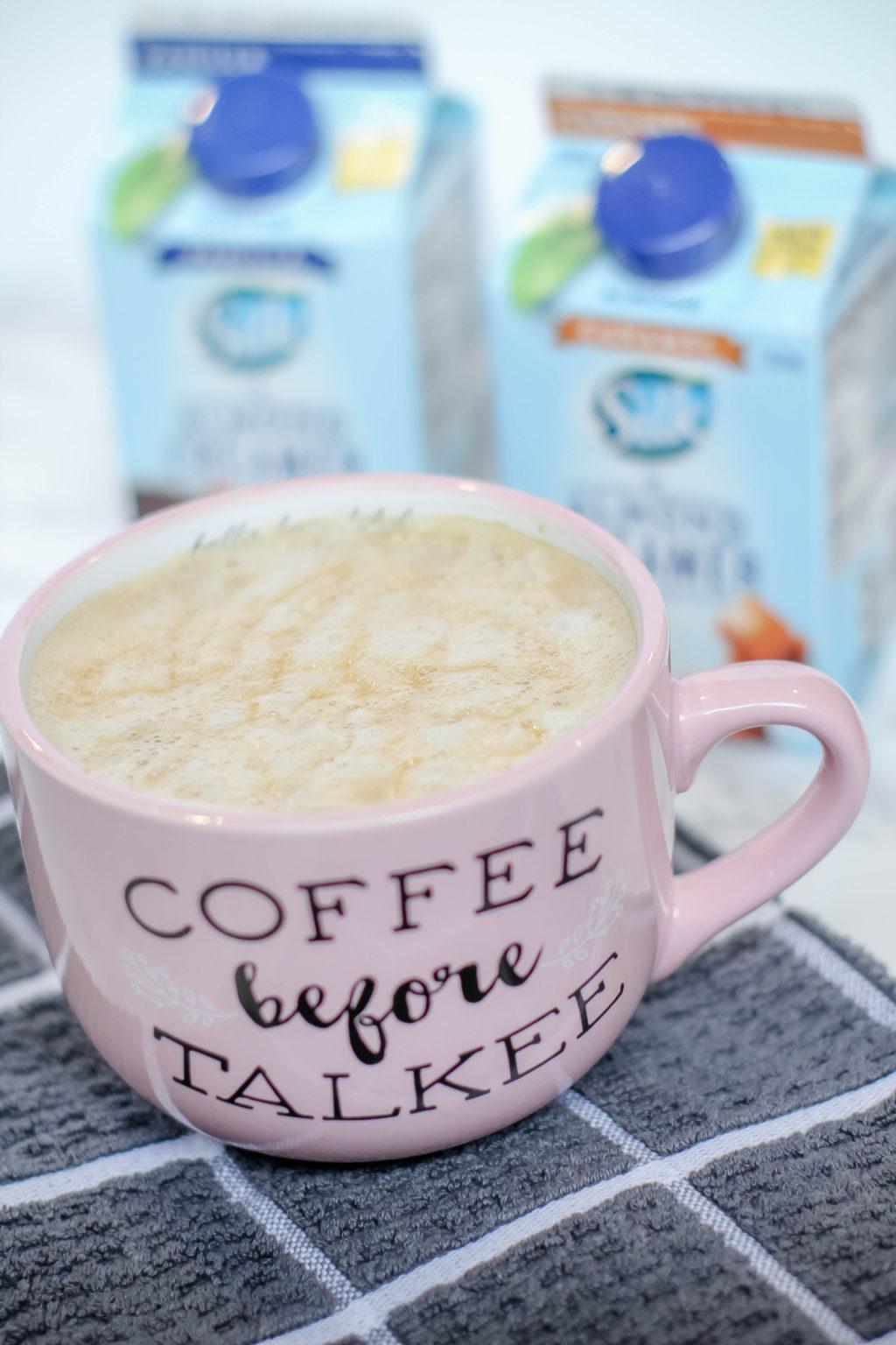 How to make a caramel macchiato! Best yet, it's a dairy free caramel macchiato! #dairyfree #caramelmacchiato #coffee