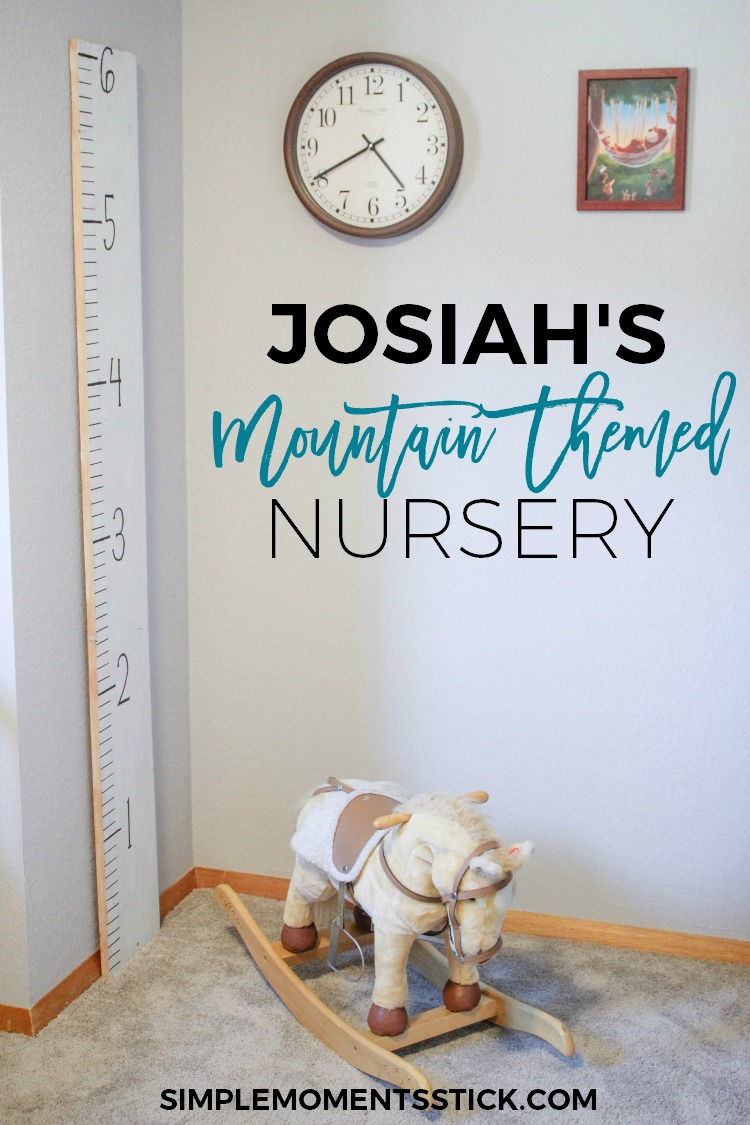 Josiah S Mountain Themed Nursery Simple Moments Stick