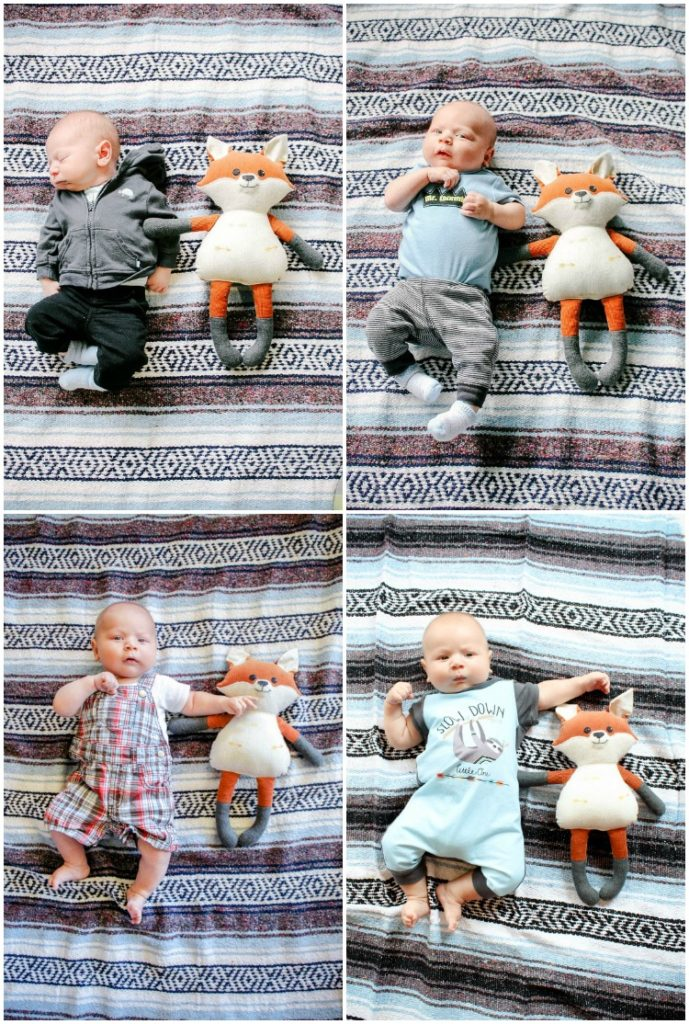 Monthly baby photography idea