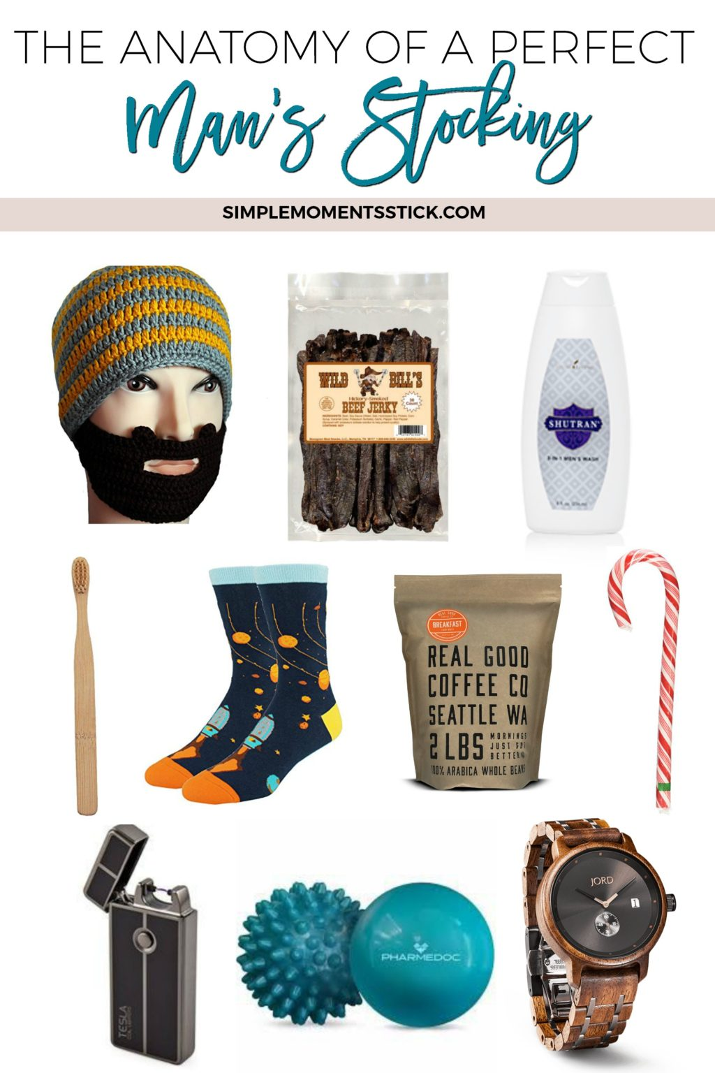 Putting together the perfect man's stocking doesn't have to be hard. Click through to find out great guidelines for putting together a perfect man's stocking!