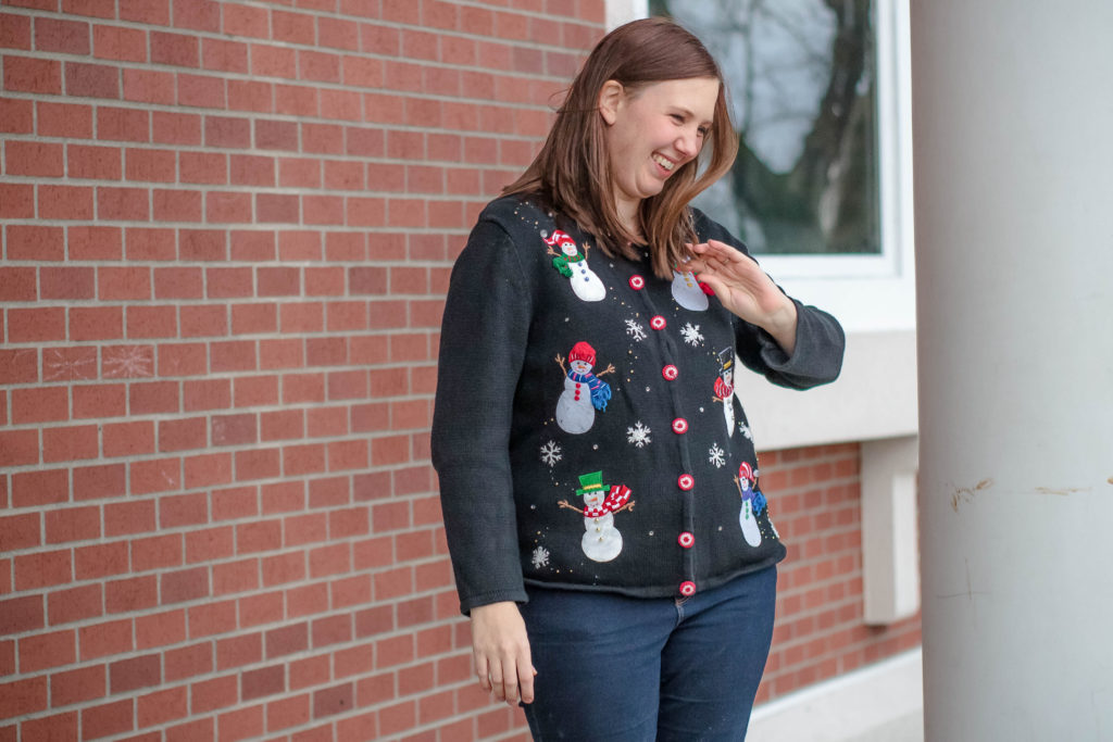 How to wear an ugly Christmas sweater with style