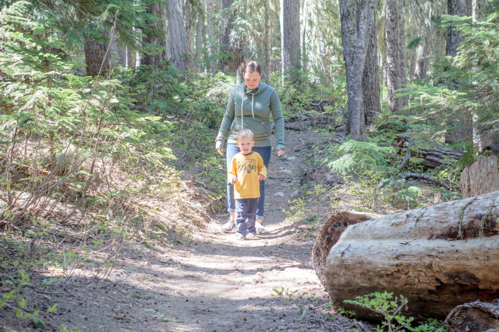 The South Fork Clear Creek hike is one of many super easy hikes in Washington state. If you're going hiking with kids near White Pass Ski Resort, I'd highly recommend checking it out! #washintonstatehikes #pnwhiking #pnwlife #hikingwithkids #takethemoutside
