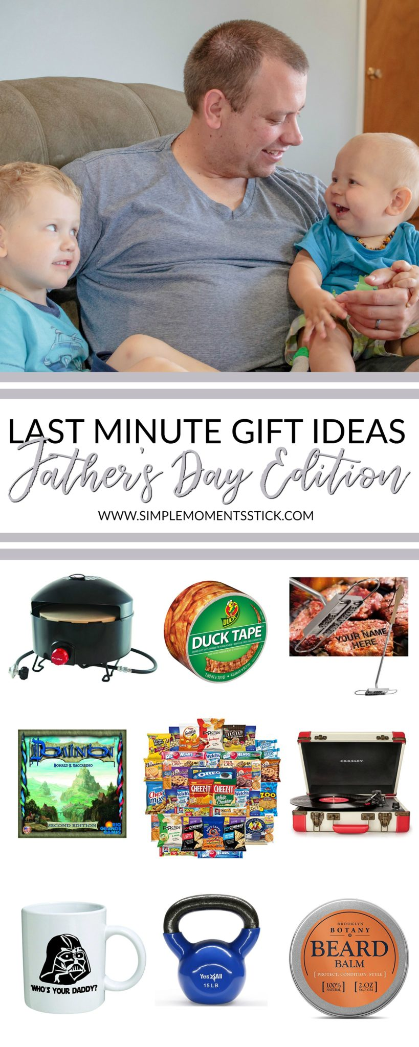 These last minute Father's Day gift ideas are perfect. There's something on there for any dad! #fathersday #giftguide #giftidea #fathersdaygiftidea #fathersday2018 #dad #daddy