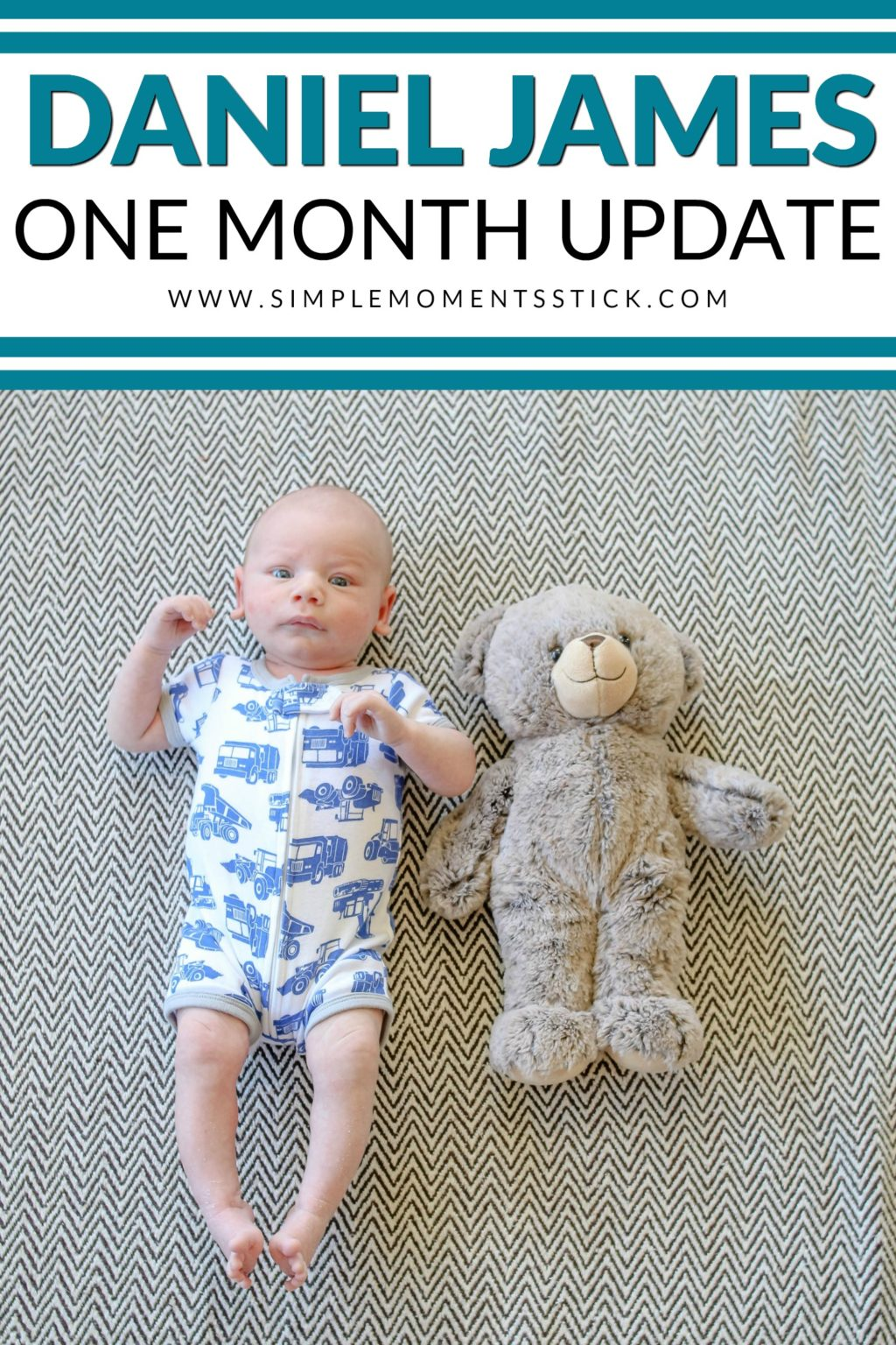What is a baby doing at one month old?