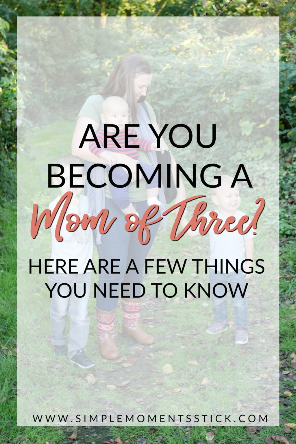 Becoming a mom of three. Third time mom tips. Things you need to know before having your third child
