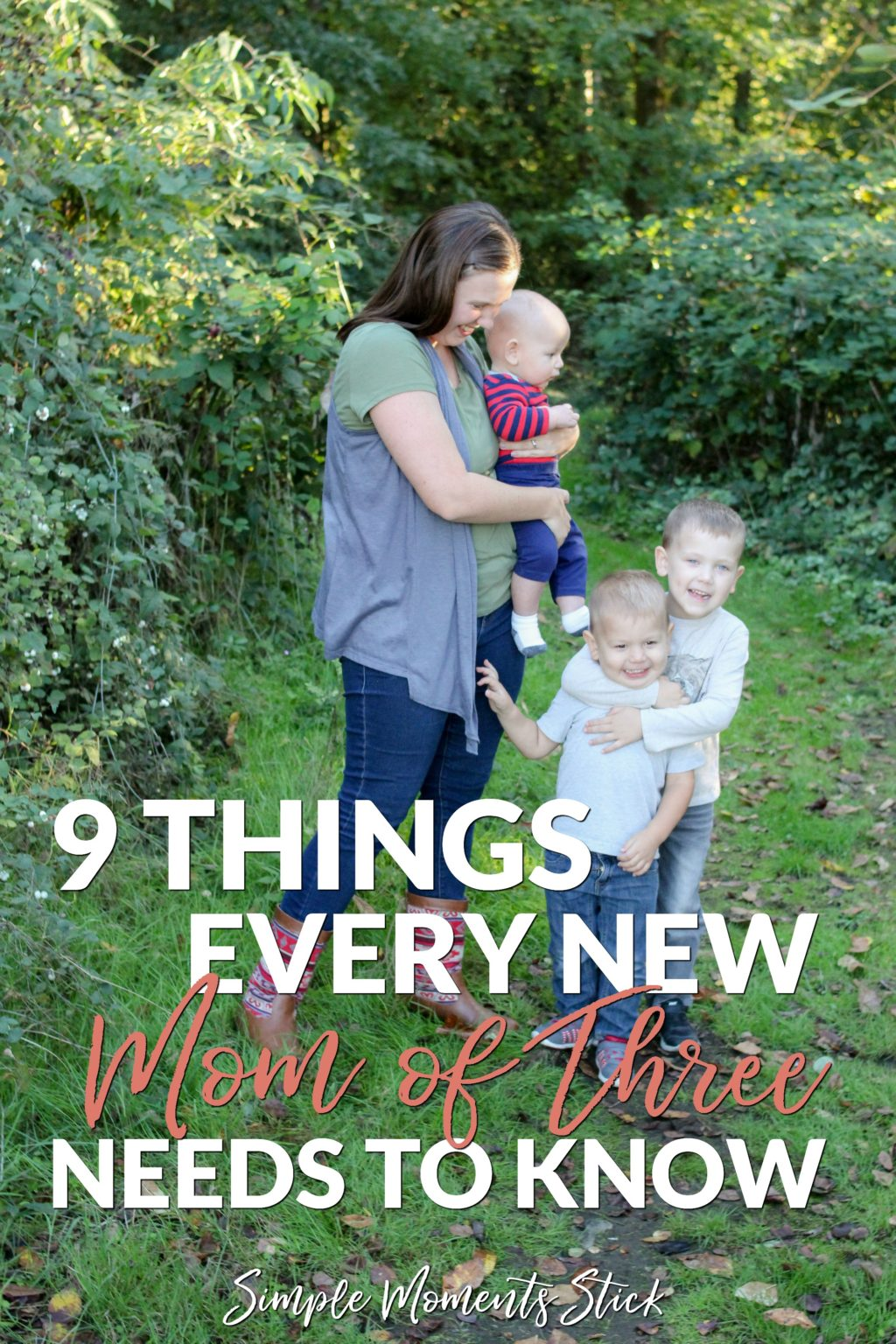 Becoming a mom of three. Mom of three boys. Things third time mom needs to know