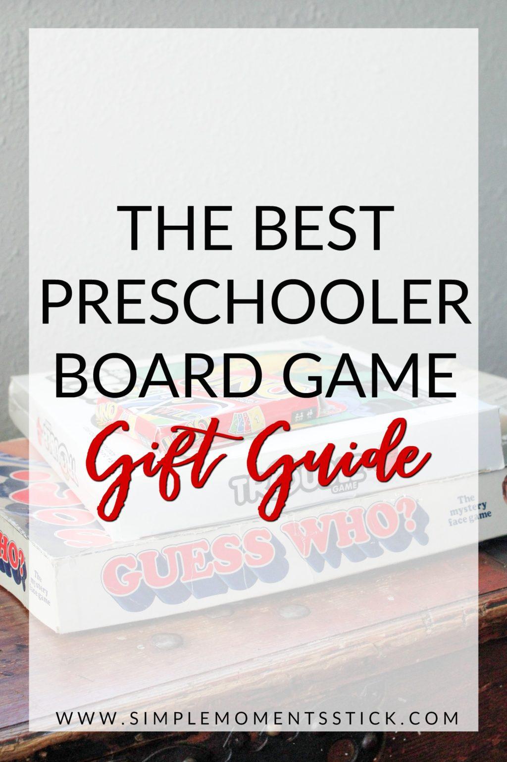 Best board games for preschoolers. Preschooler gift guide. Gifts for preschoolers