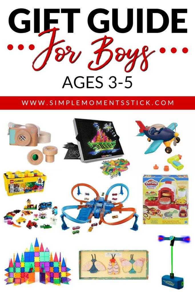 Gift guide for preschooler boys. Preschool boy gift guides. Present ideas for preschool boys. Gift ideas for preschooler boys.