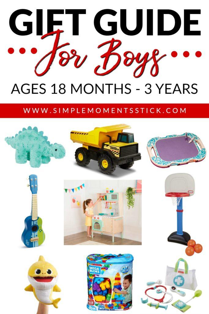 Gift guide for toddler boys. Toddler boy gift guides. Present ideas for toddler boys. Gift ideas for toddler boys.