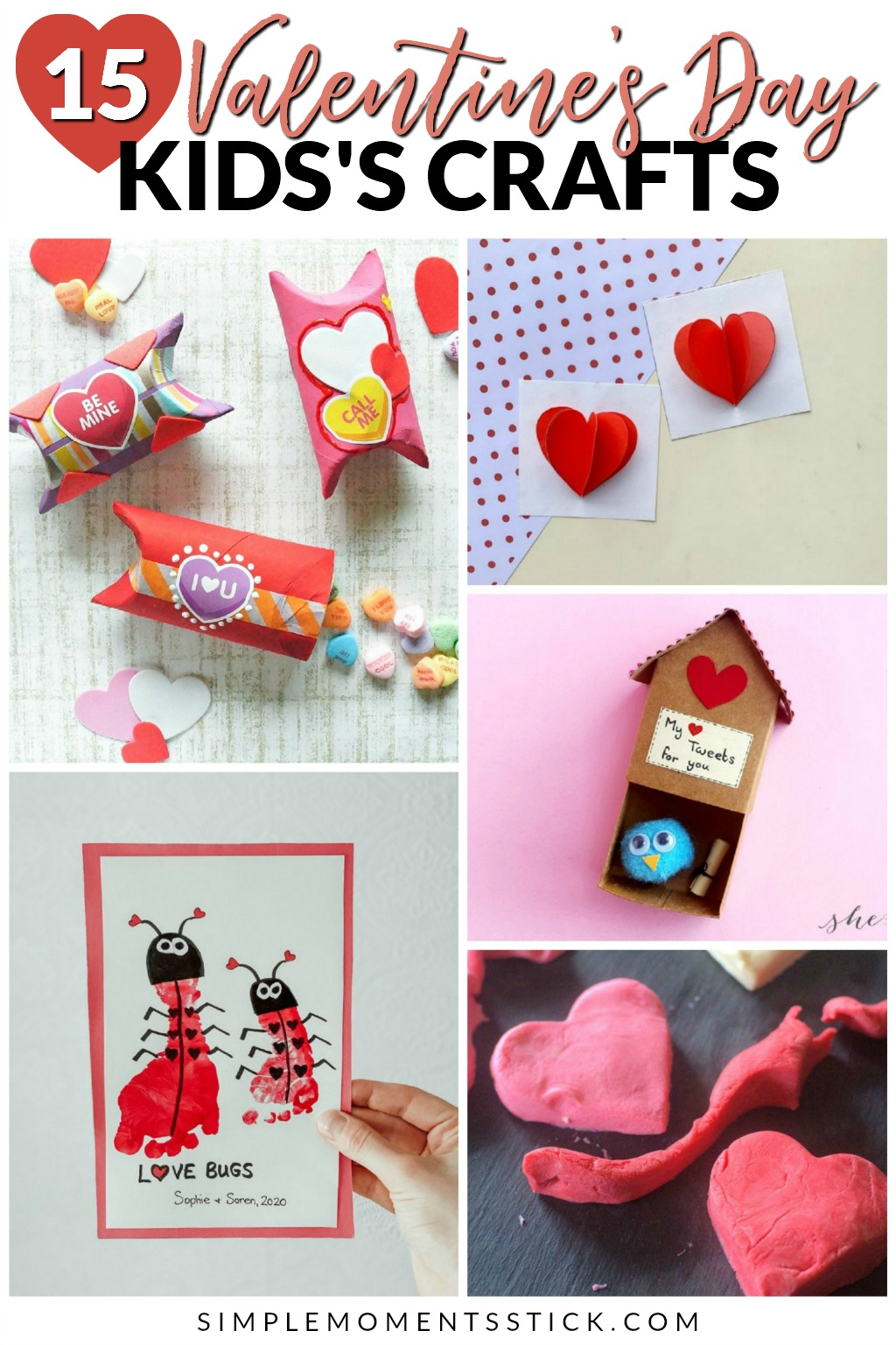 Valentine's Day kid's crafts. Easy peasy Valentine crafts. Valentine's Day crafts for kids