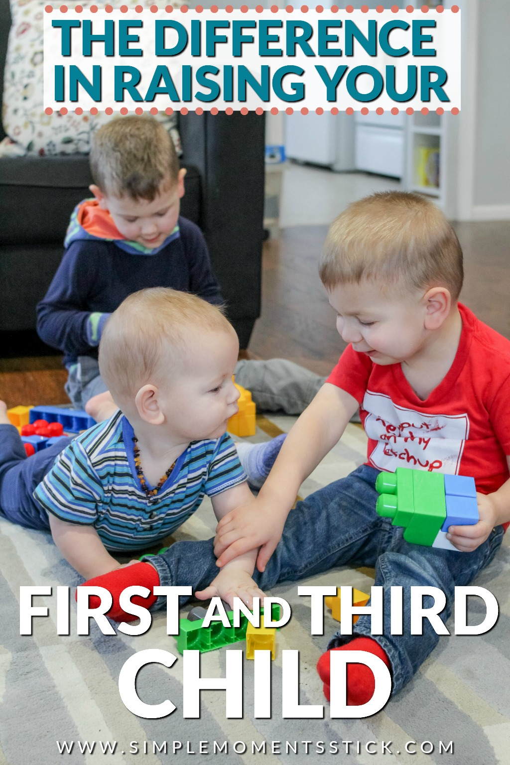 Difference in raising first and third child