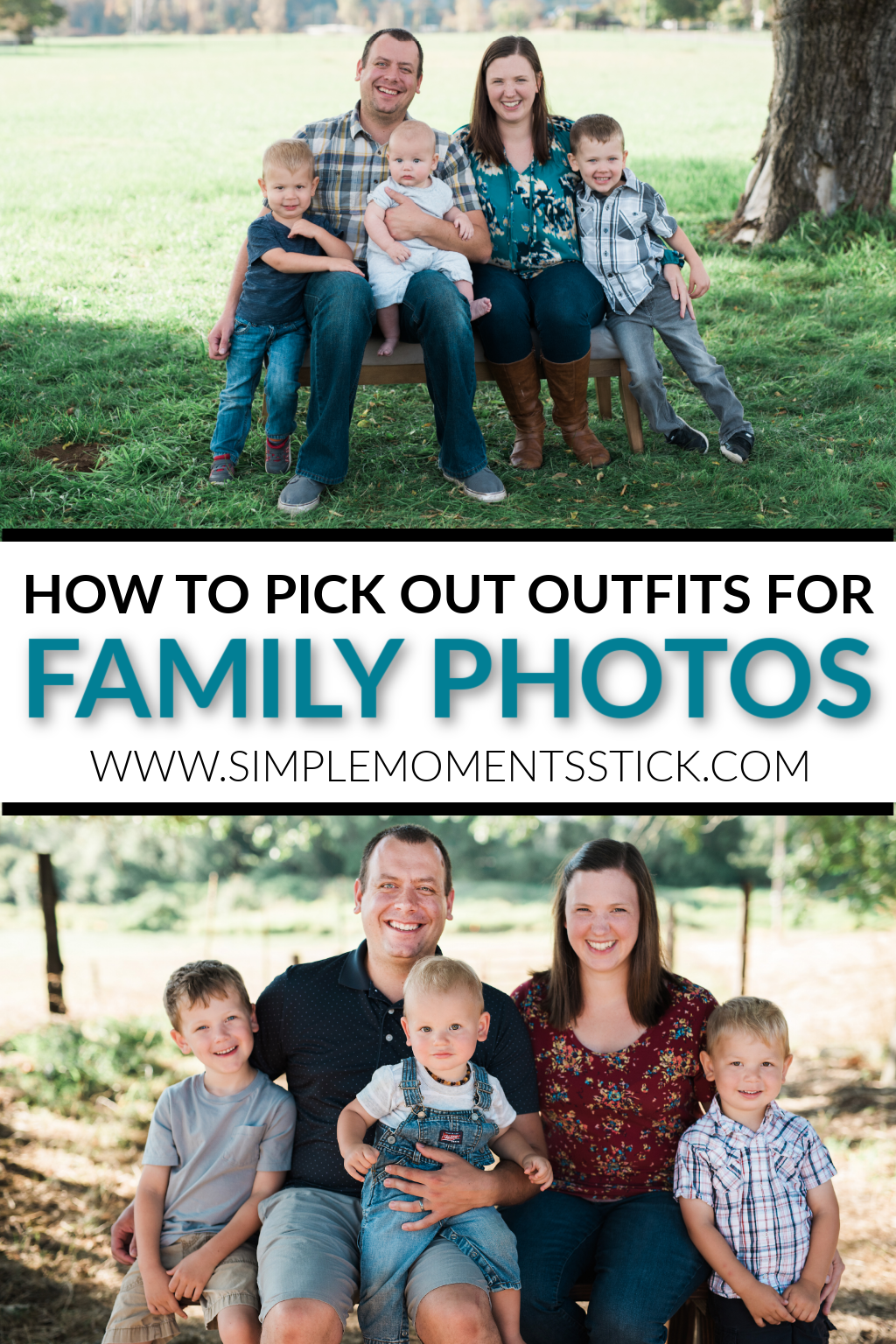 Family picture outfits. What to wear for family pictures