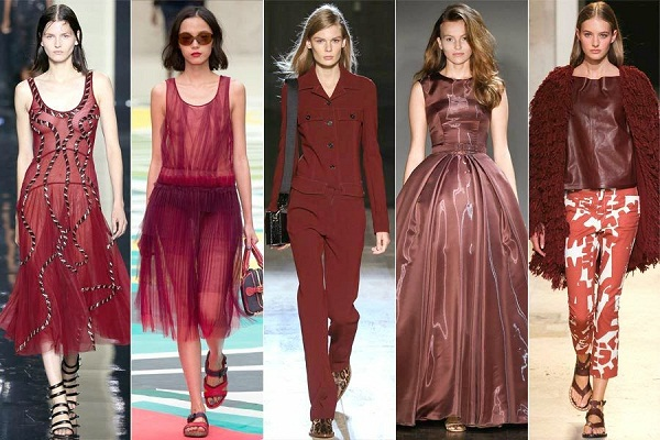 Look total marsala pantone 2015