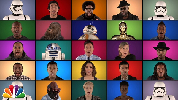 jimmy fallon e elenco de star wars moda sem limites