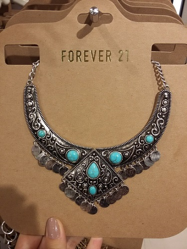 forever 21 colares