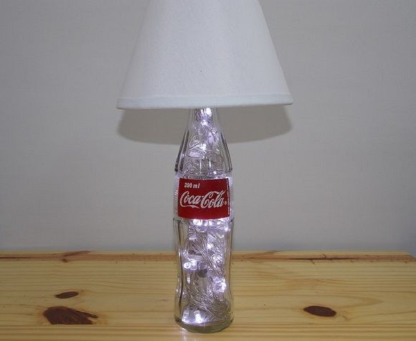 ABAJOUR DE COCA COLA COM LED DIY