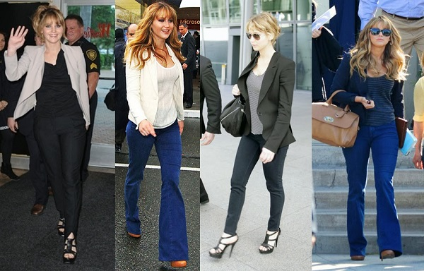 jennifer lawrence jeans e camiseta
