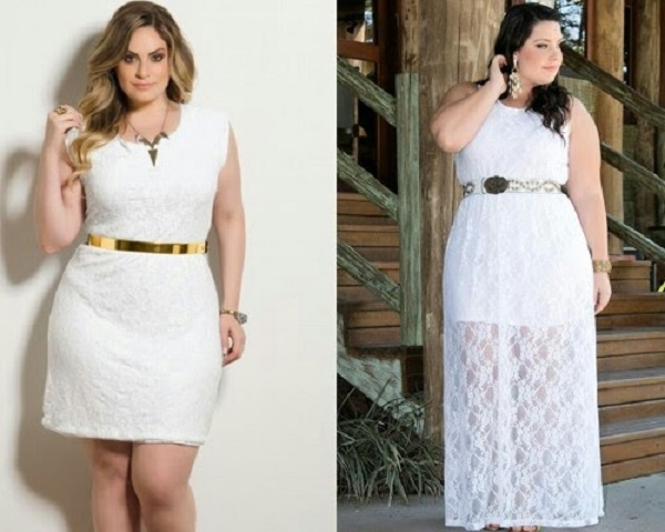 look total white plus size