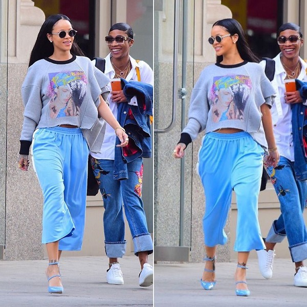 look rihanna total blue 2016 moda