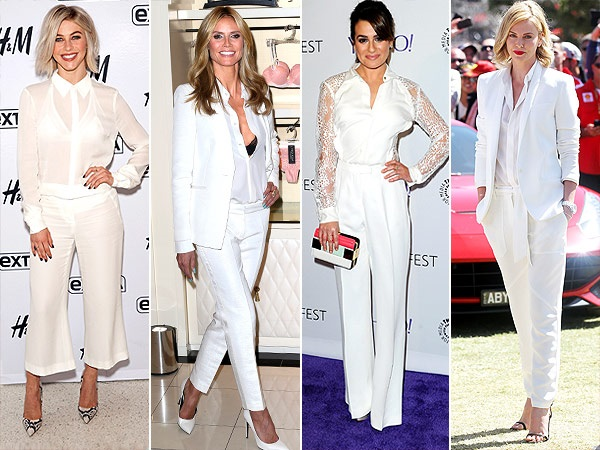 famosas red carpet look white