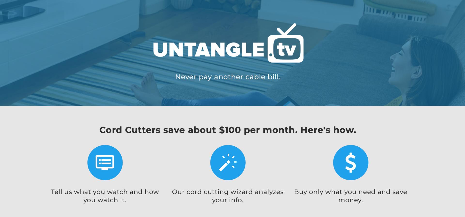 Untangle TV Web site