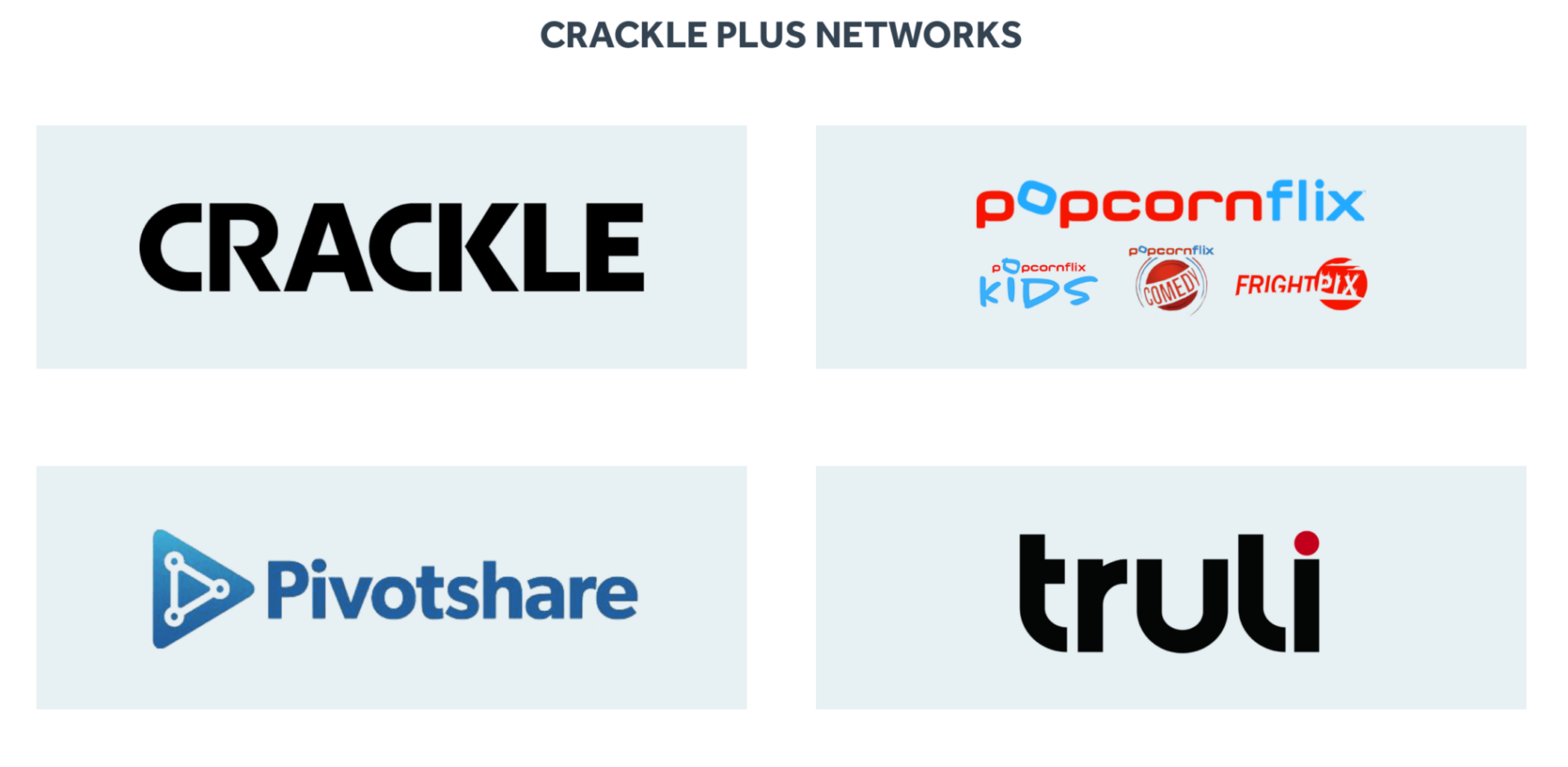 Crackle Plus Networks