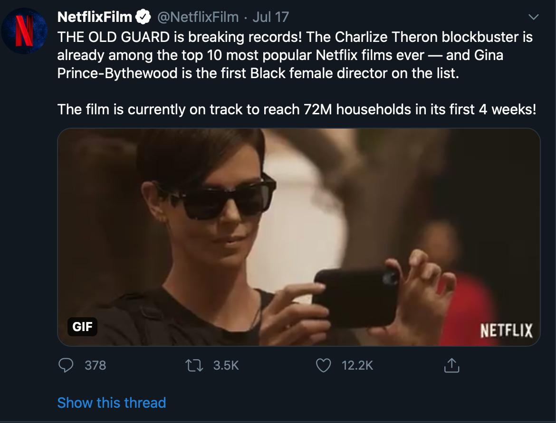 Old Guard Tweet From Netflix