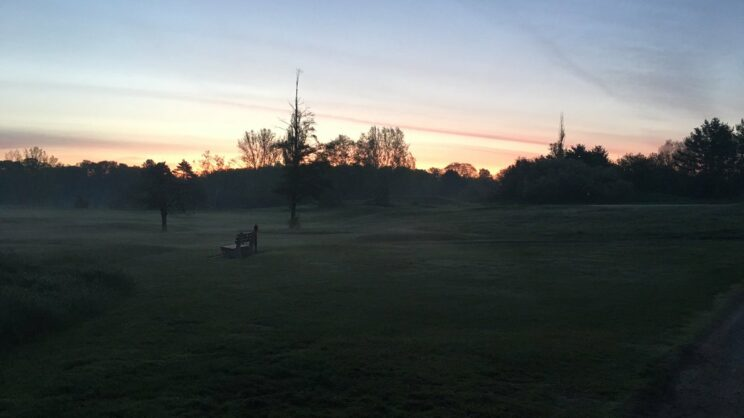 Dawn breaking on a cold mid-October day @ NBGCC.