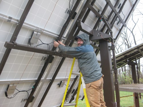 Tony connecting the inverters