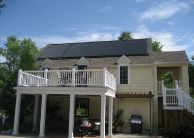 Solar pool system installed at the Stegman residence (82.5 kWh/day = 282 kBTU/day)
