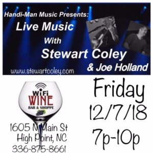 WiFi Wine Bar & Shoppe ~ High Point, NC (Duo Show) @ Wifi Wine Bar & Shoppe