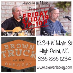 Brown Truck Brewery ~ High Point, NC (Duo Show)