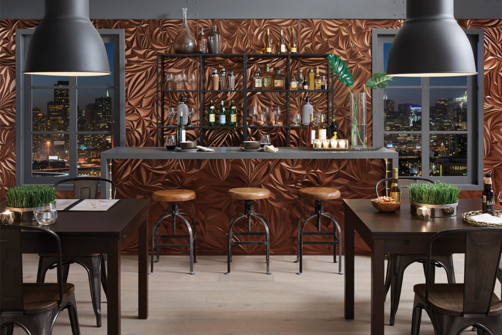 MirroFlex_Sculpted-Petals-Oil-Rubbed-Bronze_Restaurant-Bar-1