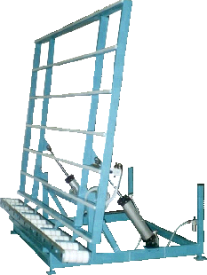 Pneumatic Tilt Assembly Table with Custom Rollers for Nail Fin