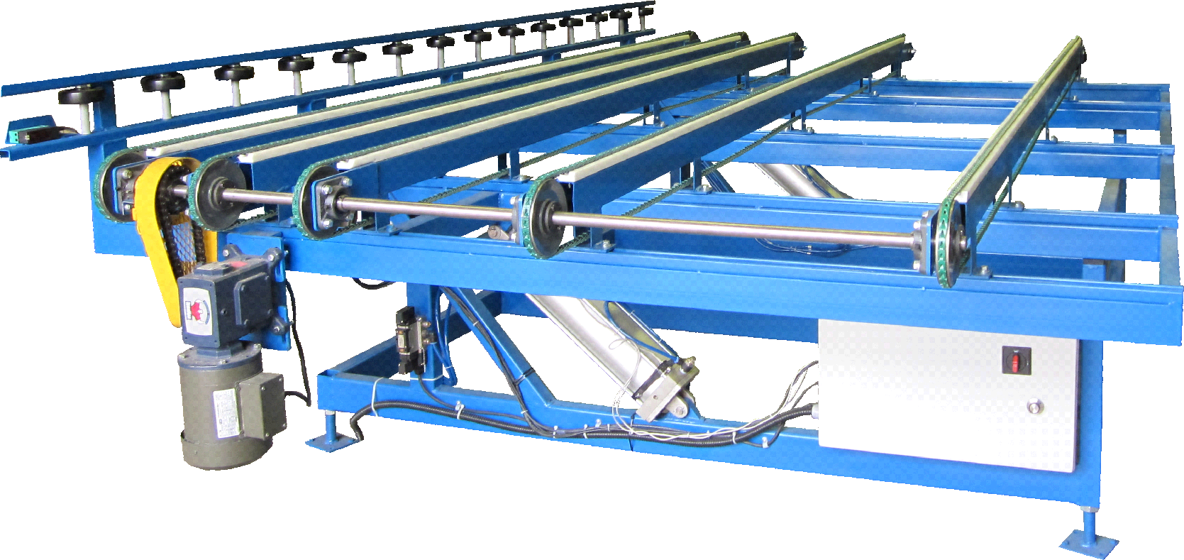 Pneumatic Tilt Belt Transfer Table