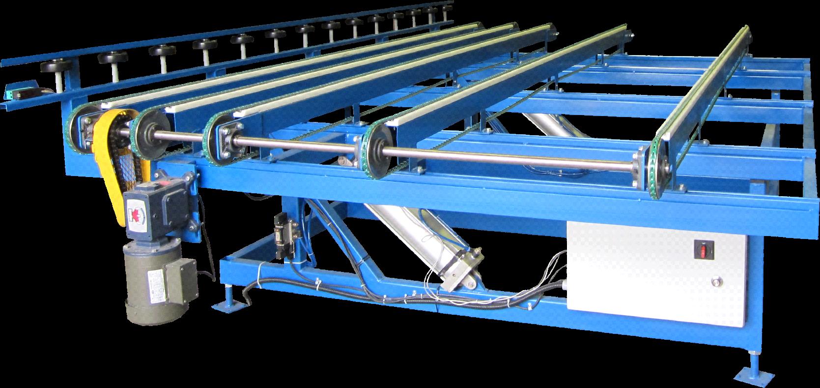 Pneumatic Tilt Belt Transfer Table