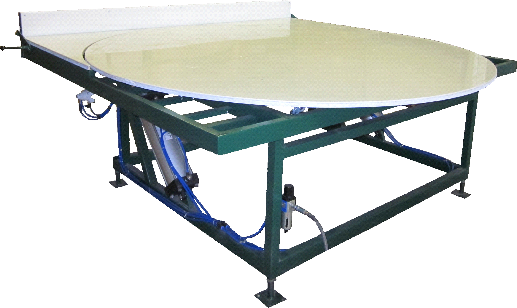 Pneumatic Tilting Rotated Table